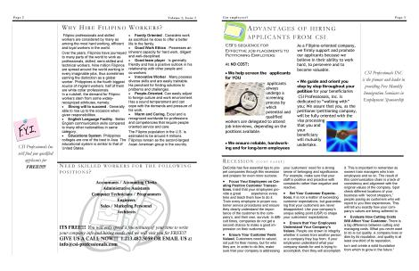 Newsletter for employers -page2-3
