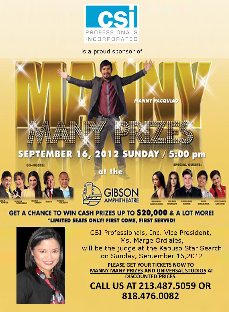 Manny many prizes