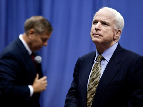 Sens. McCain And Graham Hold Health Care Town Hall At The Citadel