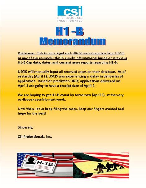 H1-B Memorandum