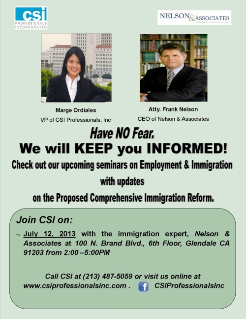 Proposed Comprehensive Immigration Reform Update