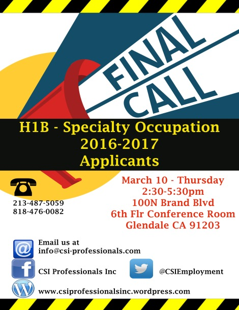 MARCH 10 POSTER FINAL CALL H1B