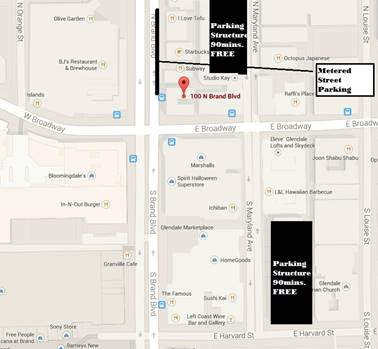 CSI Glendale map instructions