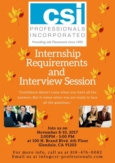 interview session Nov 2017