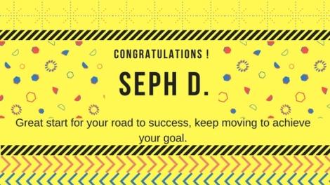 Congrats. Joseph D.
