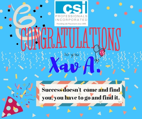 Xav A. Congrats